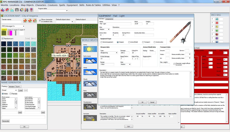 RPG Manager - Screenshots